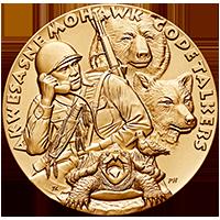 2008 code talkers saint regis mohawk tribe bronze medal obverse